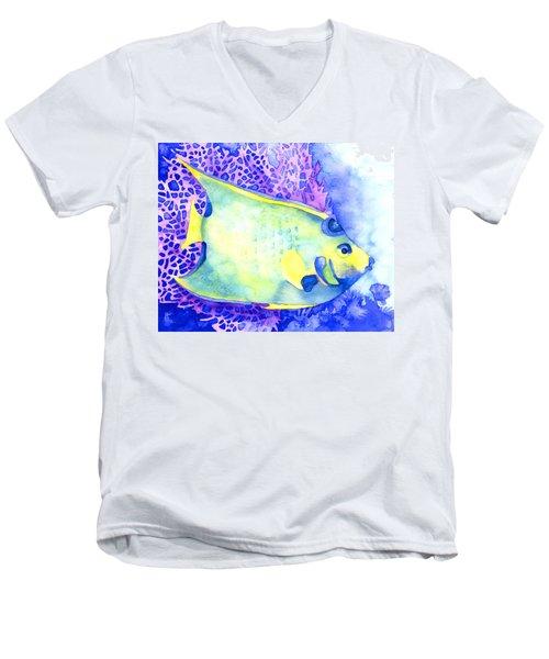 Queen Angelfish Men's V-Neck T-Shirt