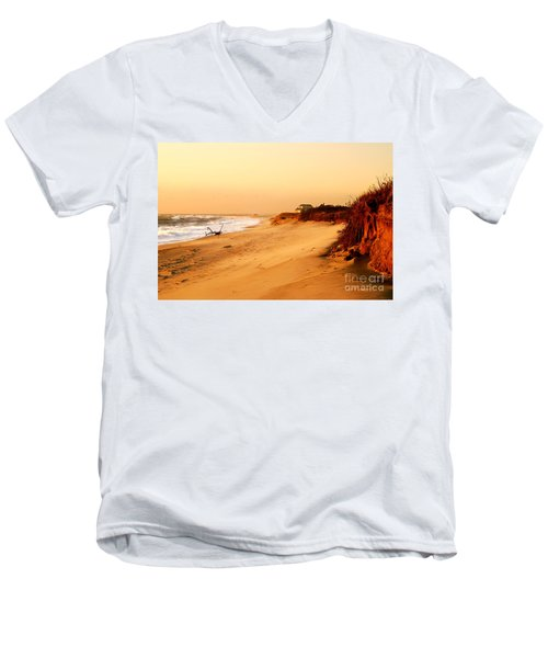 Quiet Summer Sunset Men's V-Neck T-Shirt by Sabine Jacobs