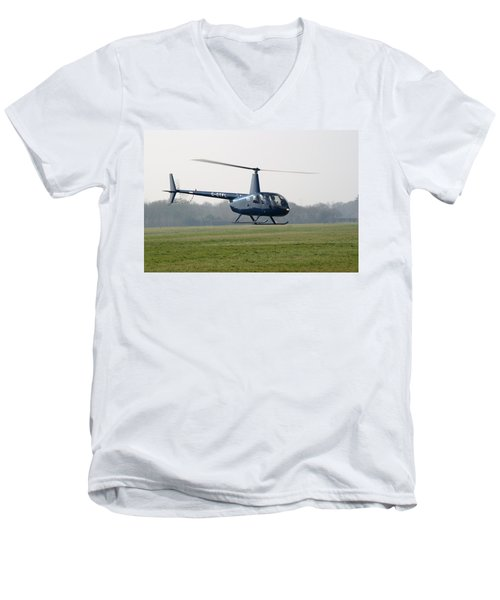 R44 Raven Helicopter Men's V-Neck T-Shirt