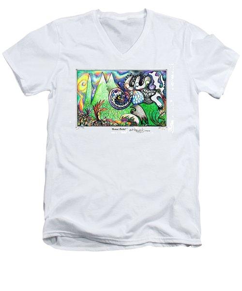 Rabbid Rabbit Men's V-Neck T-Shirt