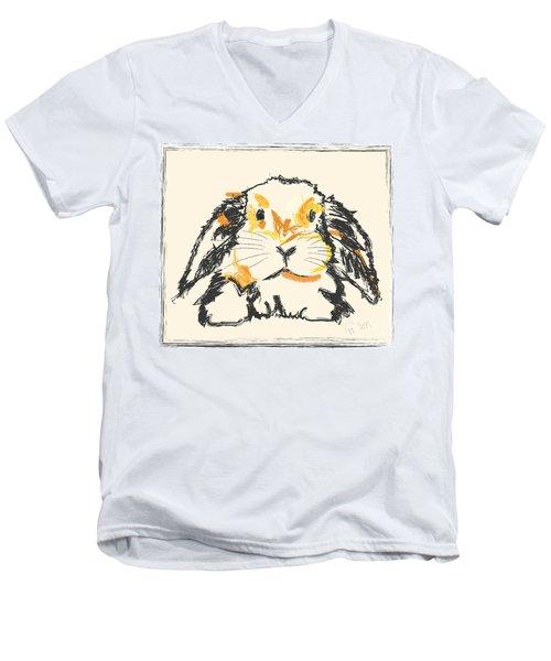 Rabbit Jon Men's V-Neck T-Shirt by Go Van Kampen