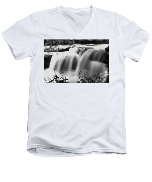 Raging Waters Men's V-Neck T-Shirt by Melissa Petrey