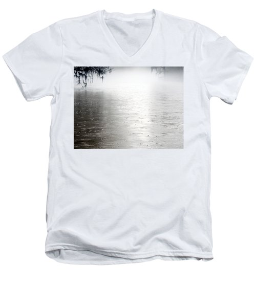 Rain On The Flint Men's V-Neck T-Shirt