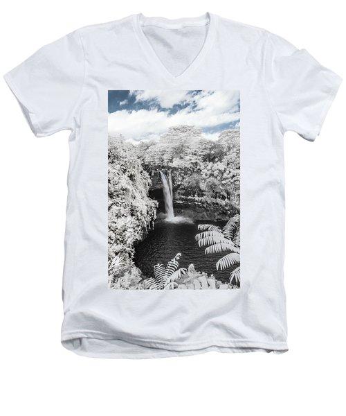 Rainbow Falls In Infrared 1 Men's V-Neck T-Shirt
