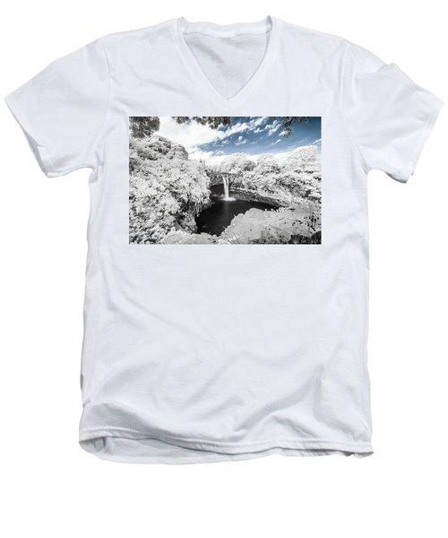 Rainbow Falls In Infrared 3 Men's V-Neck T-Shirt