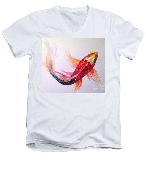 Rainbow Koi Men's V-Neck T-Shirt