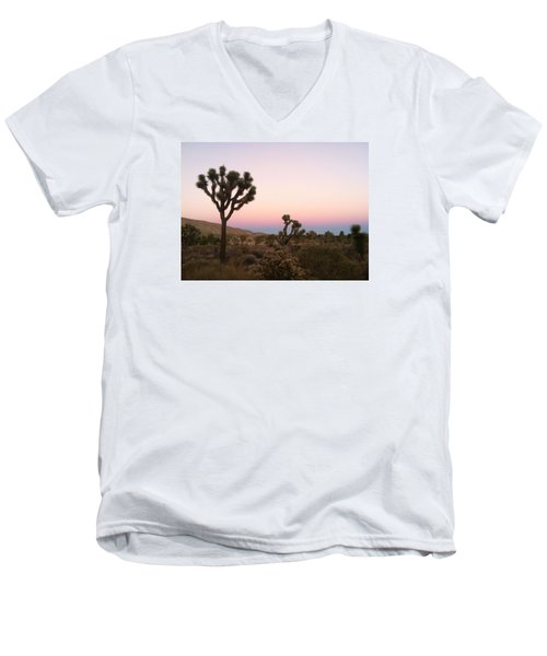 Men's V-Neck T-Shirt featuring the photograph Rainbow Morning by Angela J Wright