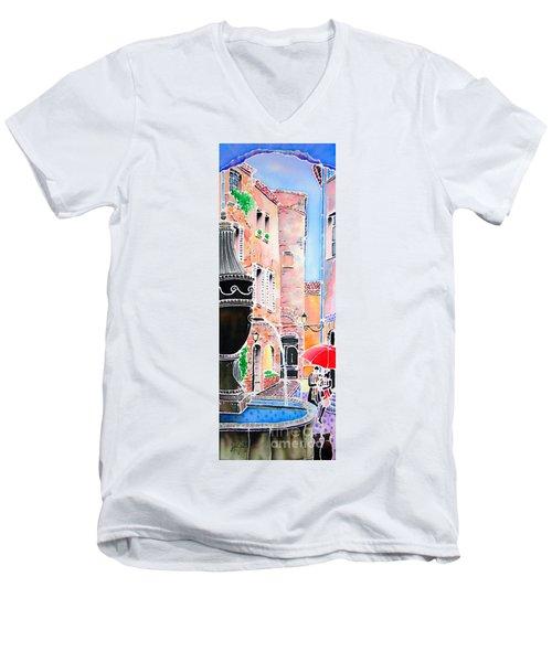Raining In St-paul De Vence Men's V-Neck T-Shirt