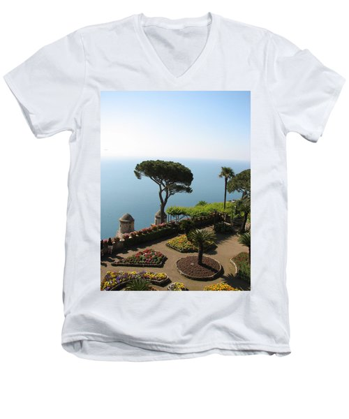 Men's V-Neck T-Shirt featuring the photograph Ravello by Carla Parris