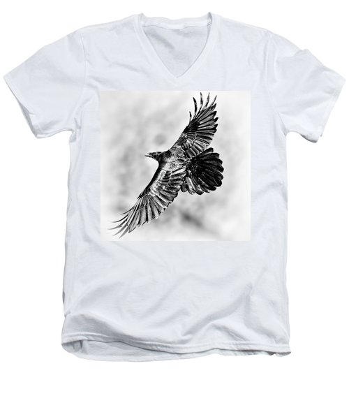 Raven Of Death Valley Men's V-Neck T-Shirt