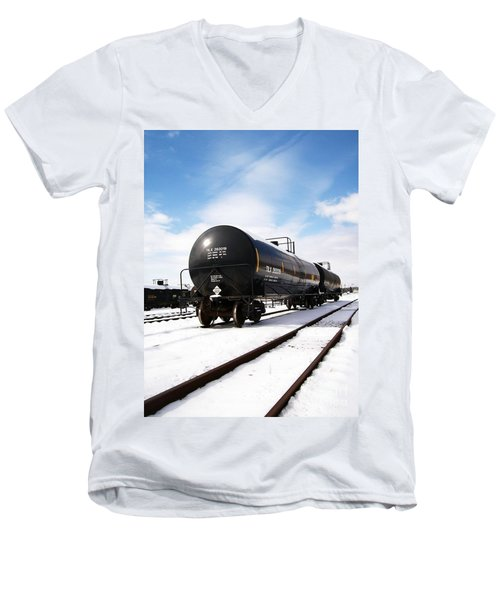 Men's V-Neck T-Shirt featuring the photograph Ready To Go by Sara  Raber