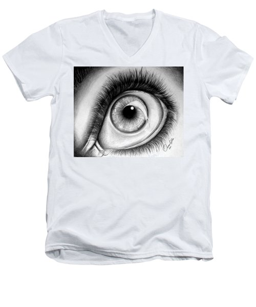 Realistic Eye Men's V-Neck T-Shirt