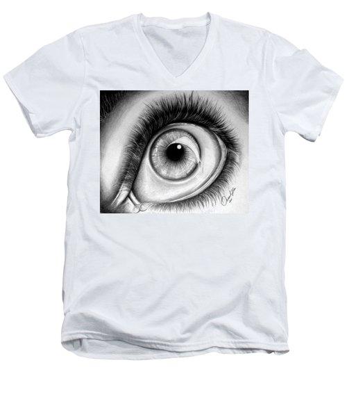 Realistic Eye Men's V-Neck T-Shirt