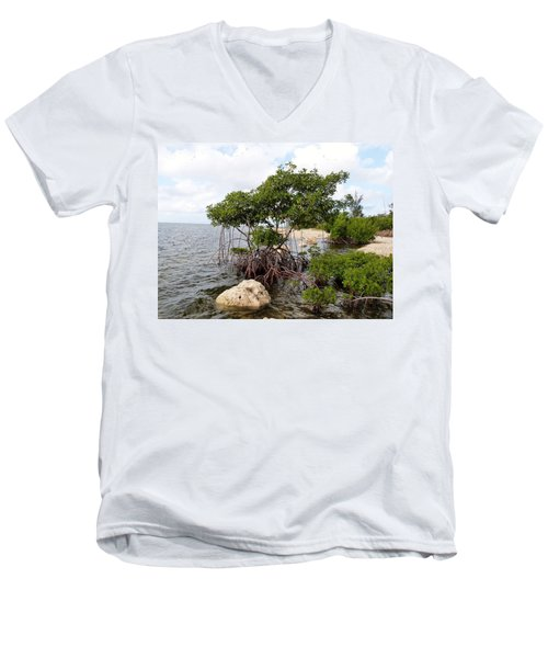 Men's V-Neck T-Shirt featuring the photograph Reclamation 9 by Amar Sheow