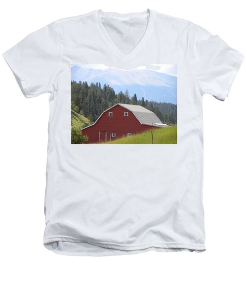 Barn - Pikes Peak Burgess Res Divide Co Men's V-Neck T-Shirt