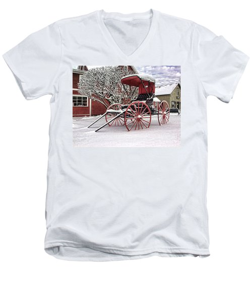 Red Buggy At Olmsted Falls - 1 Men's V-Neck T-Shirt