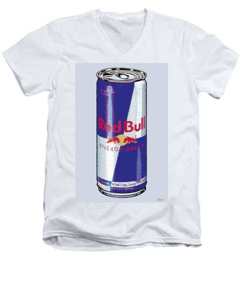 Red Bull Ode To Andy Warhol Men's V-Neck T-Shirt