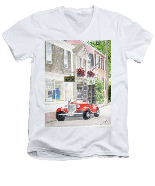 Red Car Men's V-Neck T-Shirt