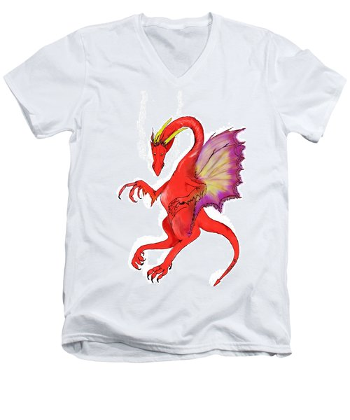 Red Dragon Men's V-Neck T-Shirt