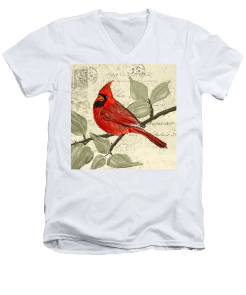 Red Melody Men's V-Neck T-Shirt