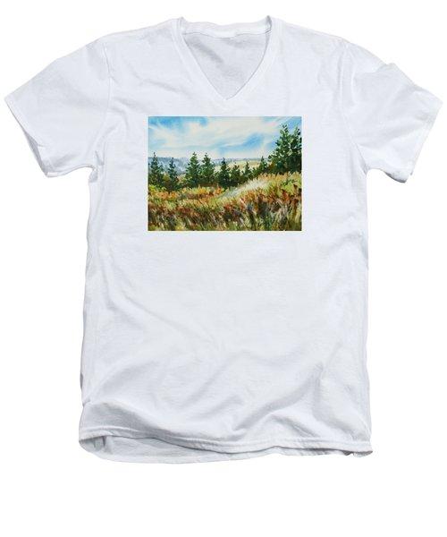 Red Rock View Road Men's V-Neck T-Shirt