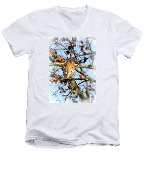 Red-shouldered Hawk - Img_7943 Men's V-Neck T-Shirt