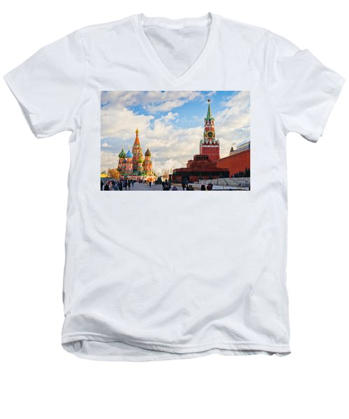 Red Square Of Moscow - Featured 3 Men's V-Neck T-Shirt