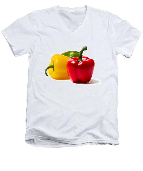 Red Sweet Pepper - Square Men's V-Neck T-Shirt