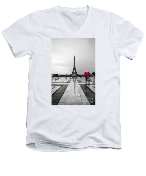 Red Umbrella Men's V-Neck T-Shirt