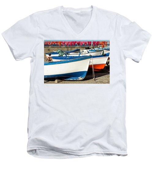 Red White And Blue Men's V-Neck T-Shirt