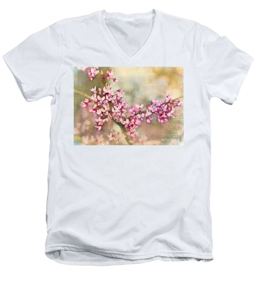 Welcome Spring Men's V-Neck T-Shirt by Judi Bagwell