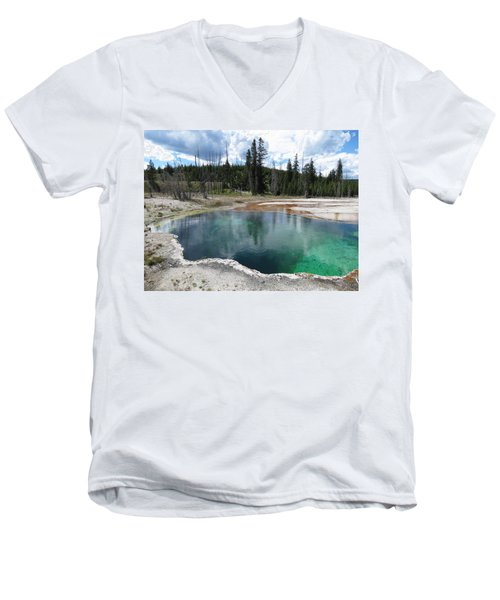 Men's V-Neck T-Shirt featuring the photograph Reflection by Laurel Powell