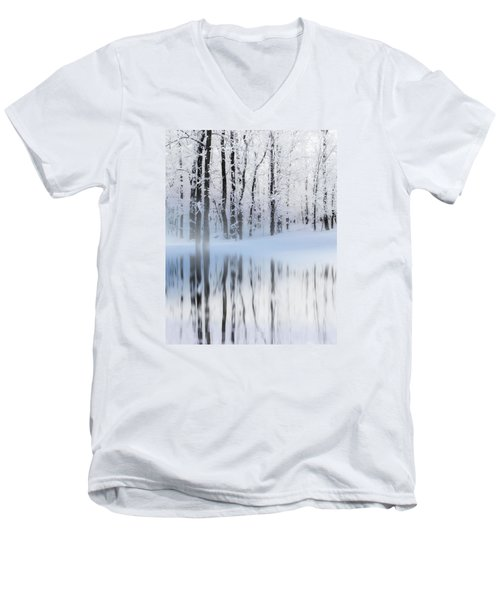 Reflection On A Dream Collingwood, On Men's V-Neck T-Shirt by Andrea Kollo
