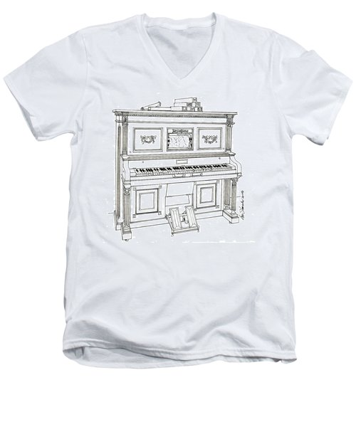 Regina Player Piano Men's V-Neck T-Shirt