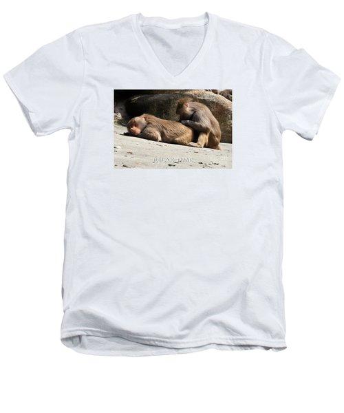 Relax Time Men's V-Neck T-Shirt
