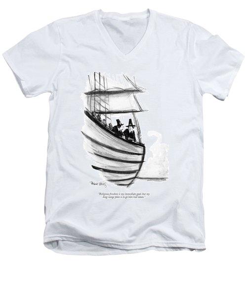 Religious Freedom Is My Immediate Goal Men's V-Neck T-Shirt
