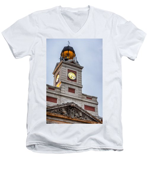 Reloj De Gobernacion 2 Men's V-Neck T-Shirt