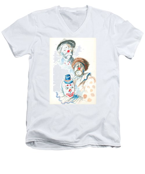 Remember The Clowns Men's V-Neck T-Shirt by Mary Armstrong