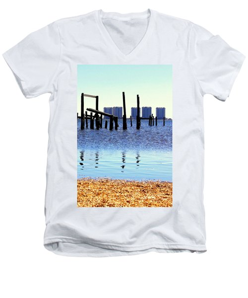 Men's V-Neck T-Shirt featuring the photograph Reminders by Faith Williams