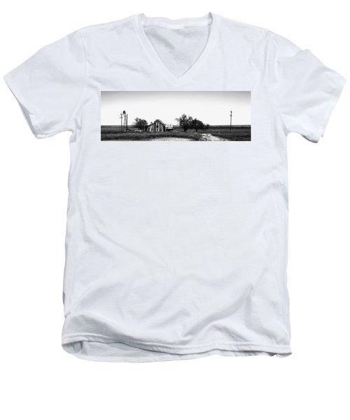 Remnants Of The Dust Bowl Men's V-Neck T-Shirt by Lon Casler Bixby