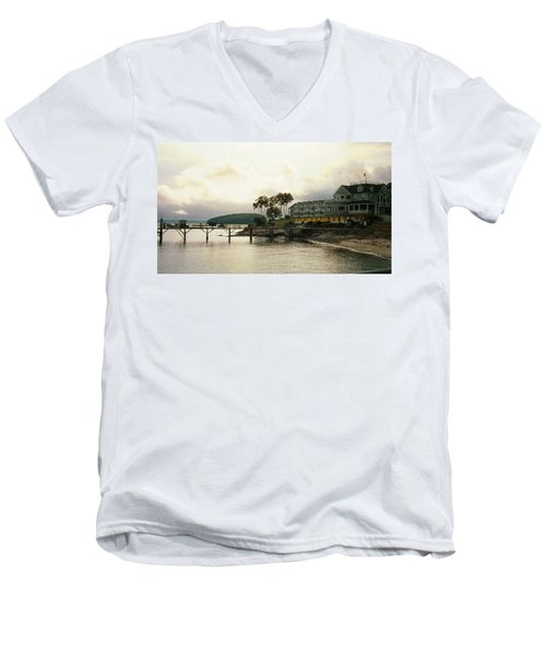 Resort In Bar Harbor Men's V-Neck T-Shirt