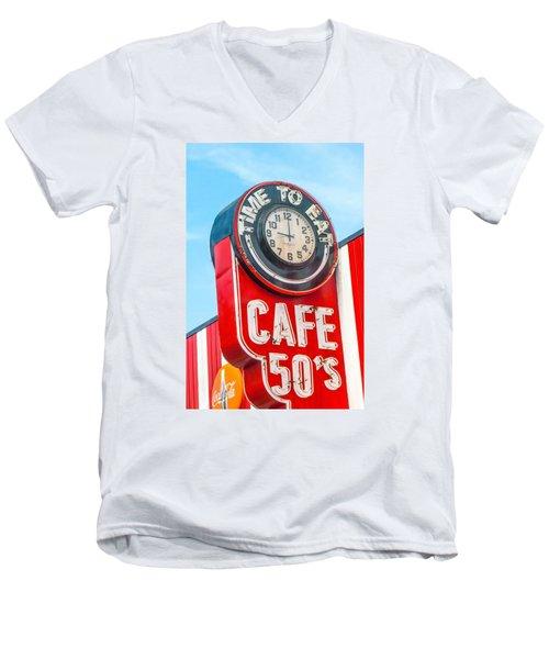 Retro Cafe Men's V-Neck T-Shirt