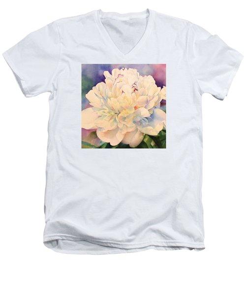 Retro Petals Men's V-Neck T-Shirt