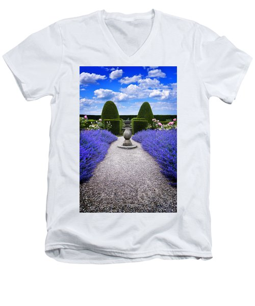 Rhapsody In Blue Men's V-Neck T-Shirt by Meirion Matthias