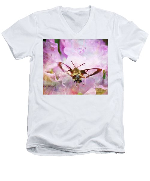 Rhododendron Dreams Men's V-Neck T-Shirt by Kerri Farley