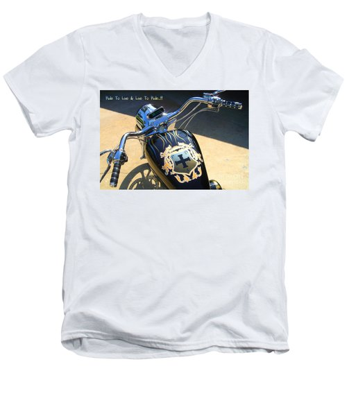 Ride To Live  Men's V-Neck T-Shirt
