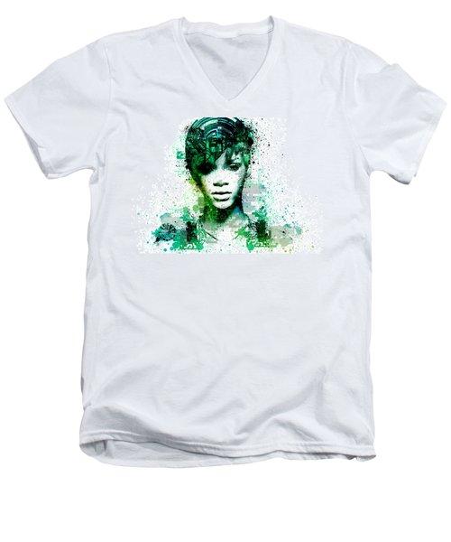 Rihanna 5 Men's V-Neck T-Shirt