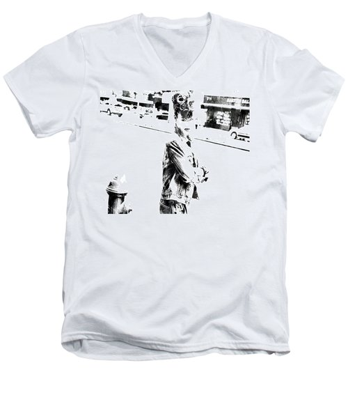 Rihanna Hanging Out Men's V-Neck T-Shirt by Brian Reaves
