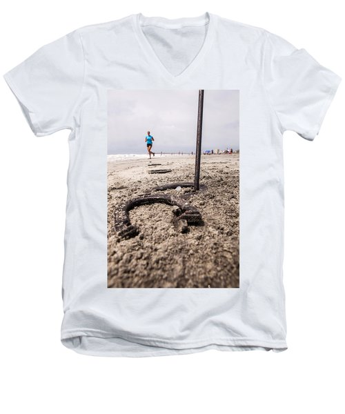 Men's V-Neck T-Shirt featuring the photograph Ringer by Sennie Pierson