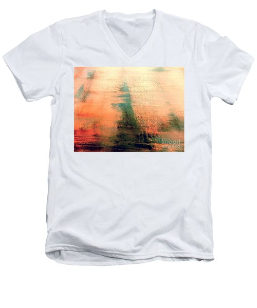 Men's V-Neck T-Shirt featuring the painting Rise by Jacqueline McReynolds